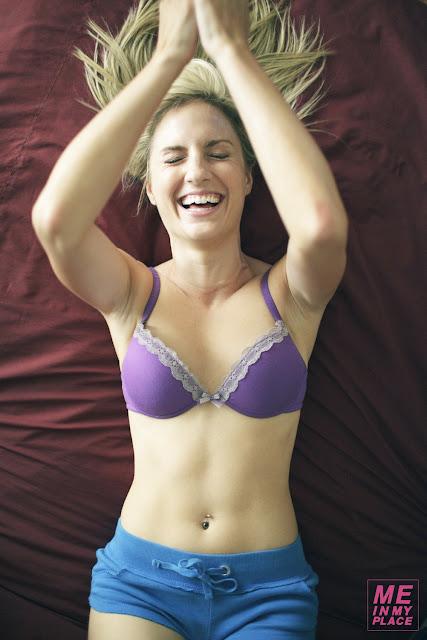 Alison Haislip in lingerie