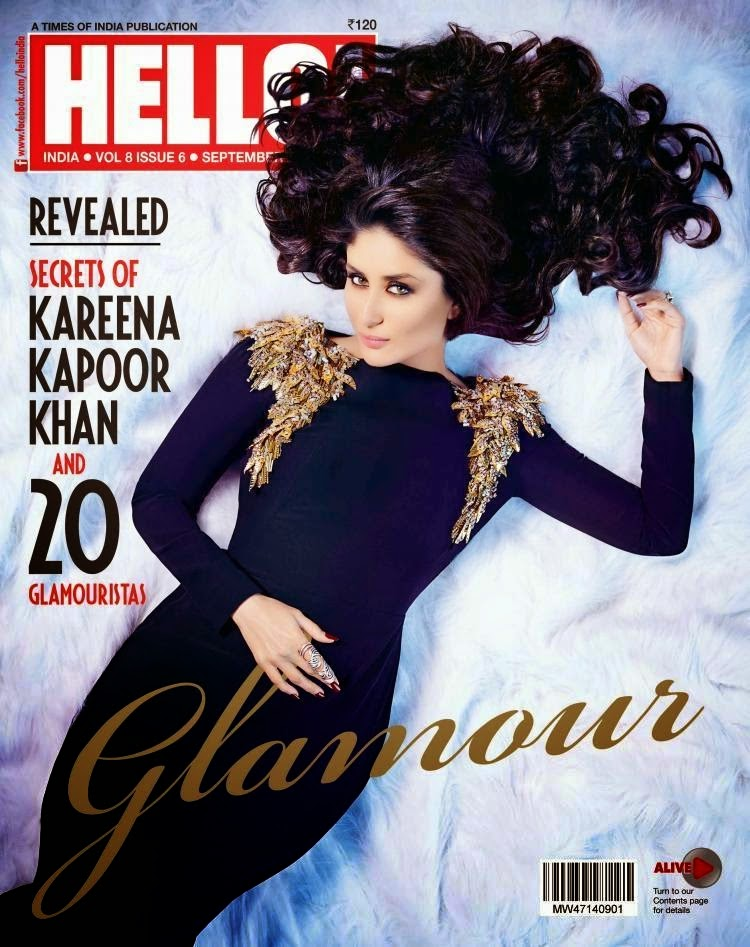 Kareena Kapoor On Cover of Hello Magazine September 2014