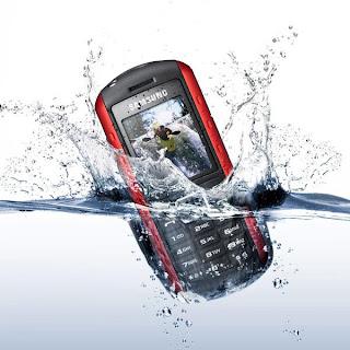 Phone fall in water