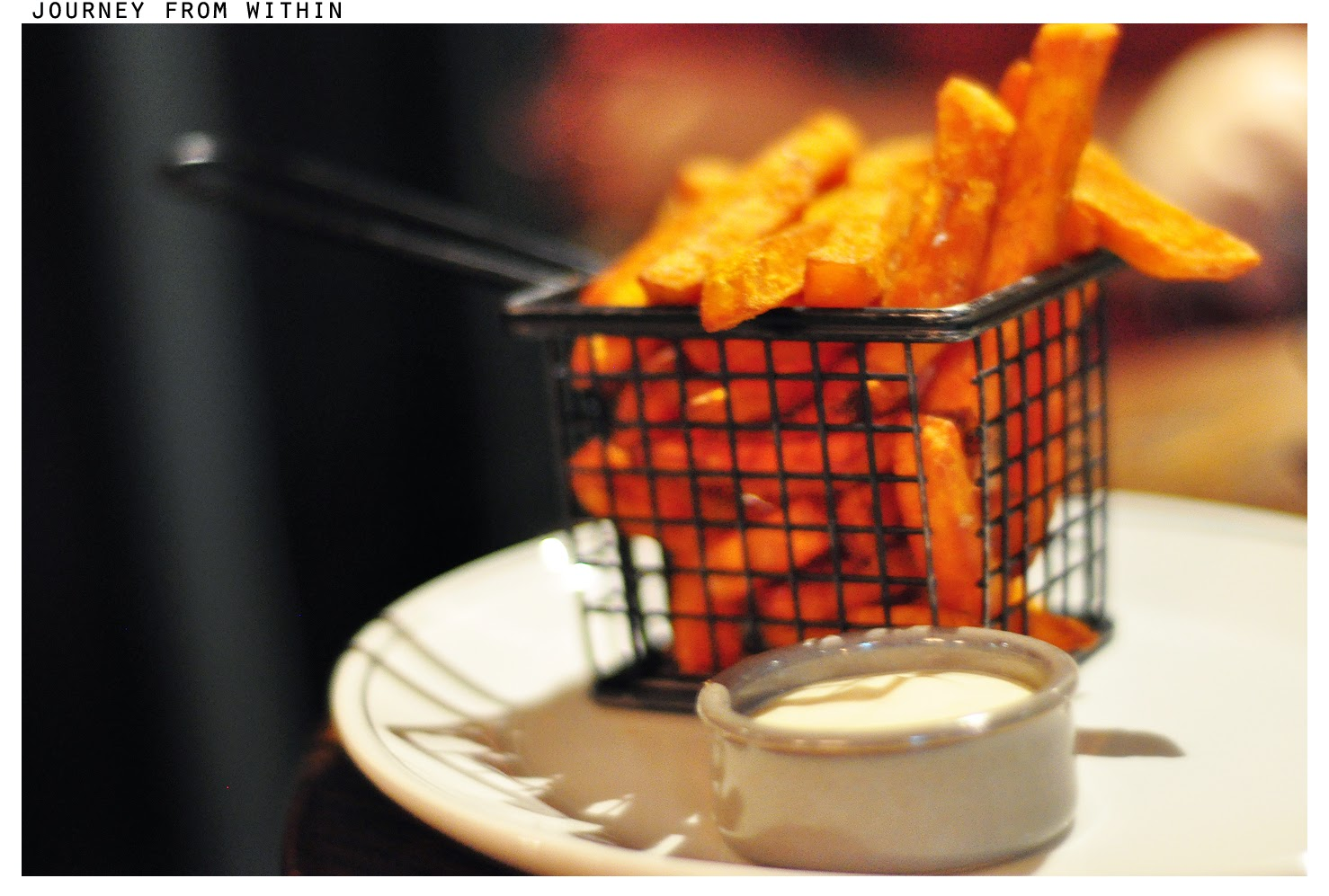 Sweet potato fries with pickled chilli mayo