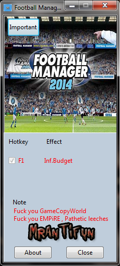 Football Manager 2014 V14.1.3  Trainer +1 MrAntiFun