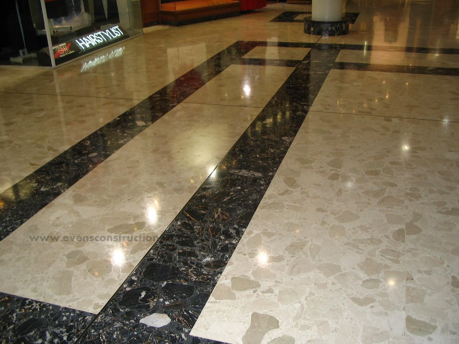Evens construction pvt ltd marble flooring care and for Floor tiles design