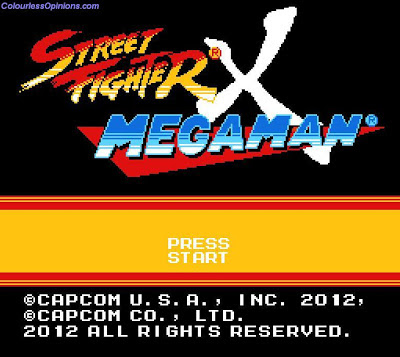 megaman vs ryu street fighter 25th anniversary main press start