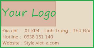 Logo cho túi giấy craft, túi giấy craft giá rẻ nhất tại Viet-X Style
