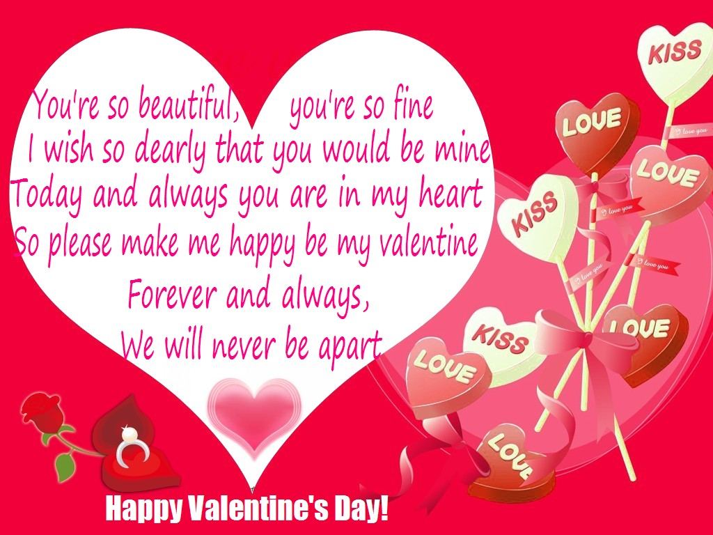40 Romantic Happy Valentines Day Greeting Card Sayings – Valentine Card Wording