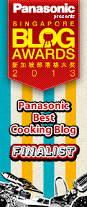 Finalist for Singapore Blog Awards 2013 -  Pansonic Best Cooking Blog