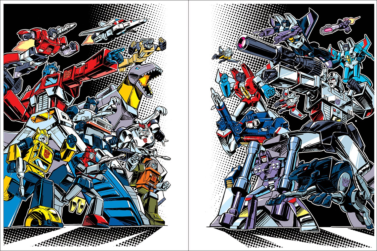"""Autobots"" and ""Decepticons"" Transformers 30th Anniversary Giclee Prints by Guido Guidi"