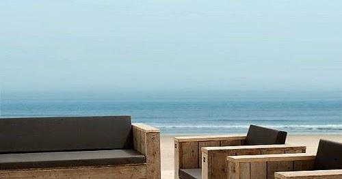 Set de muebles con palets para la playa - Muebles de playa ...