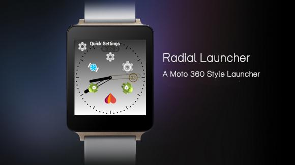 Moto 360 style launcher