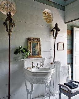 Brocante lantlig inredning lantlig for Accessori bagno vintage