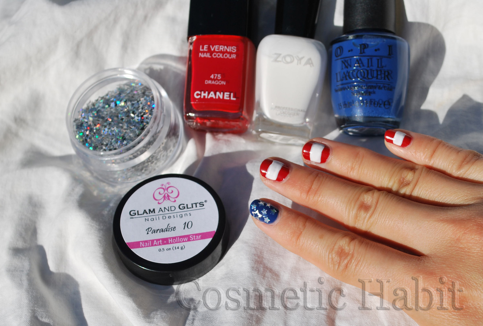 Nail Art Designs For July 4#%