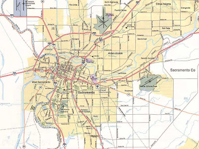 Old Sacramento map