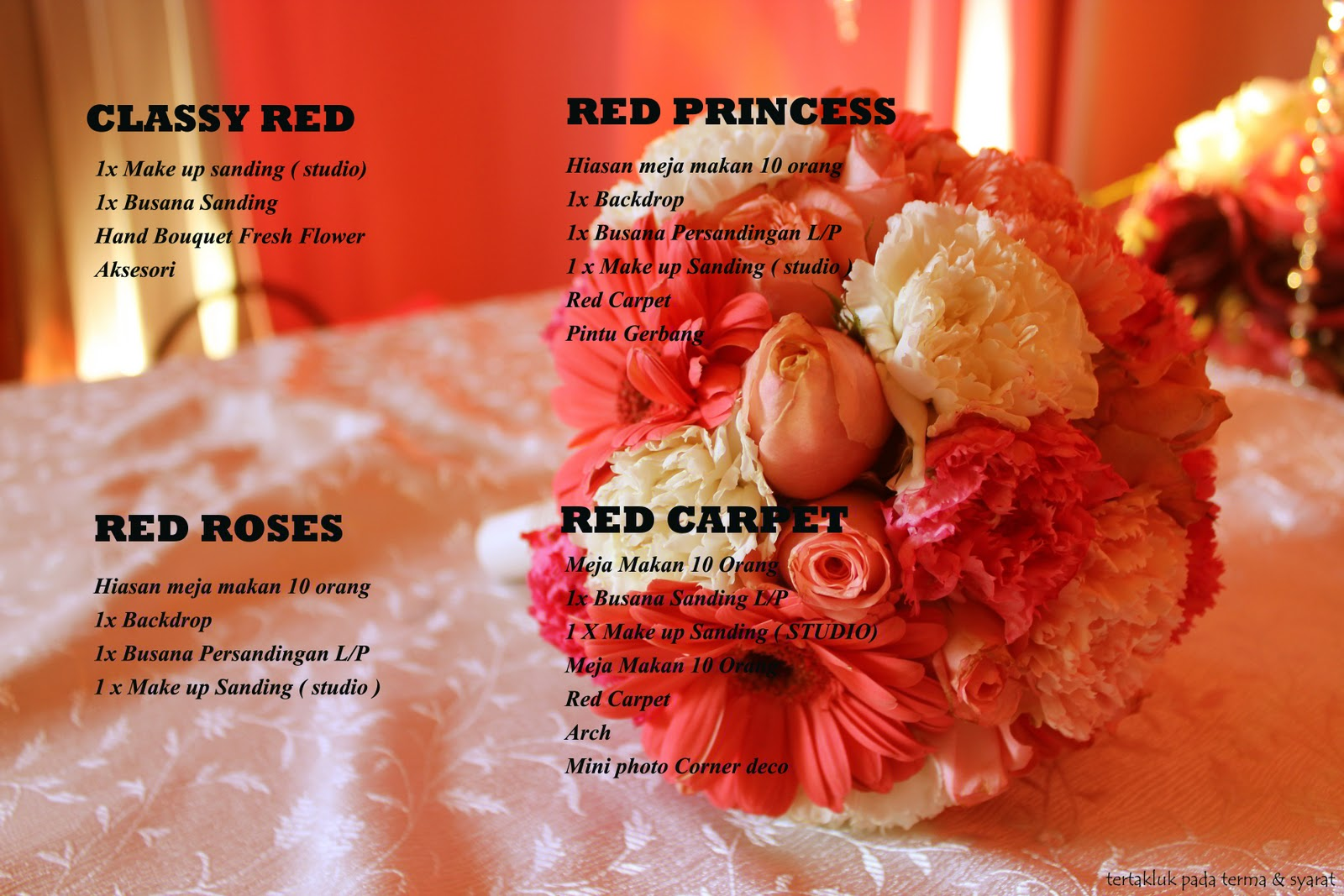 wedding boutique the house of red gincu pakej perkahwinan
