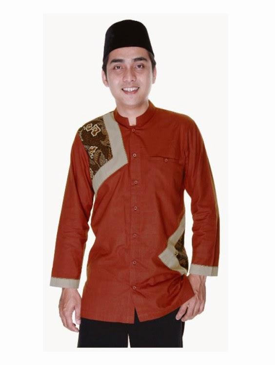 Model baju muslim batik pria desain keren