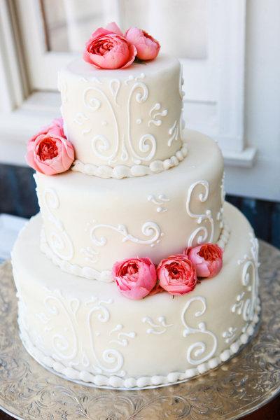украшение тортов розами