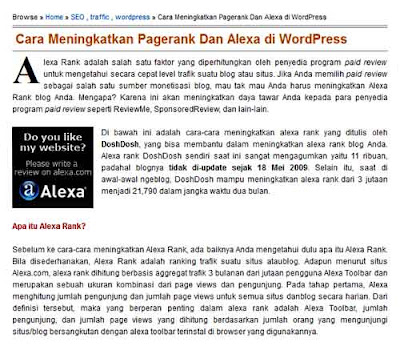Blog Info, Capture Artikel