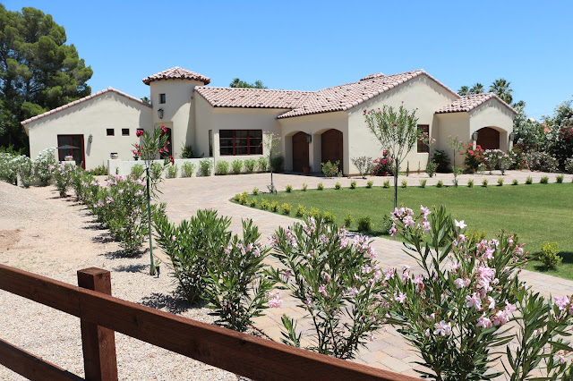 arizona gardening, arizona landscape, arizona homes, spanish style garden