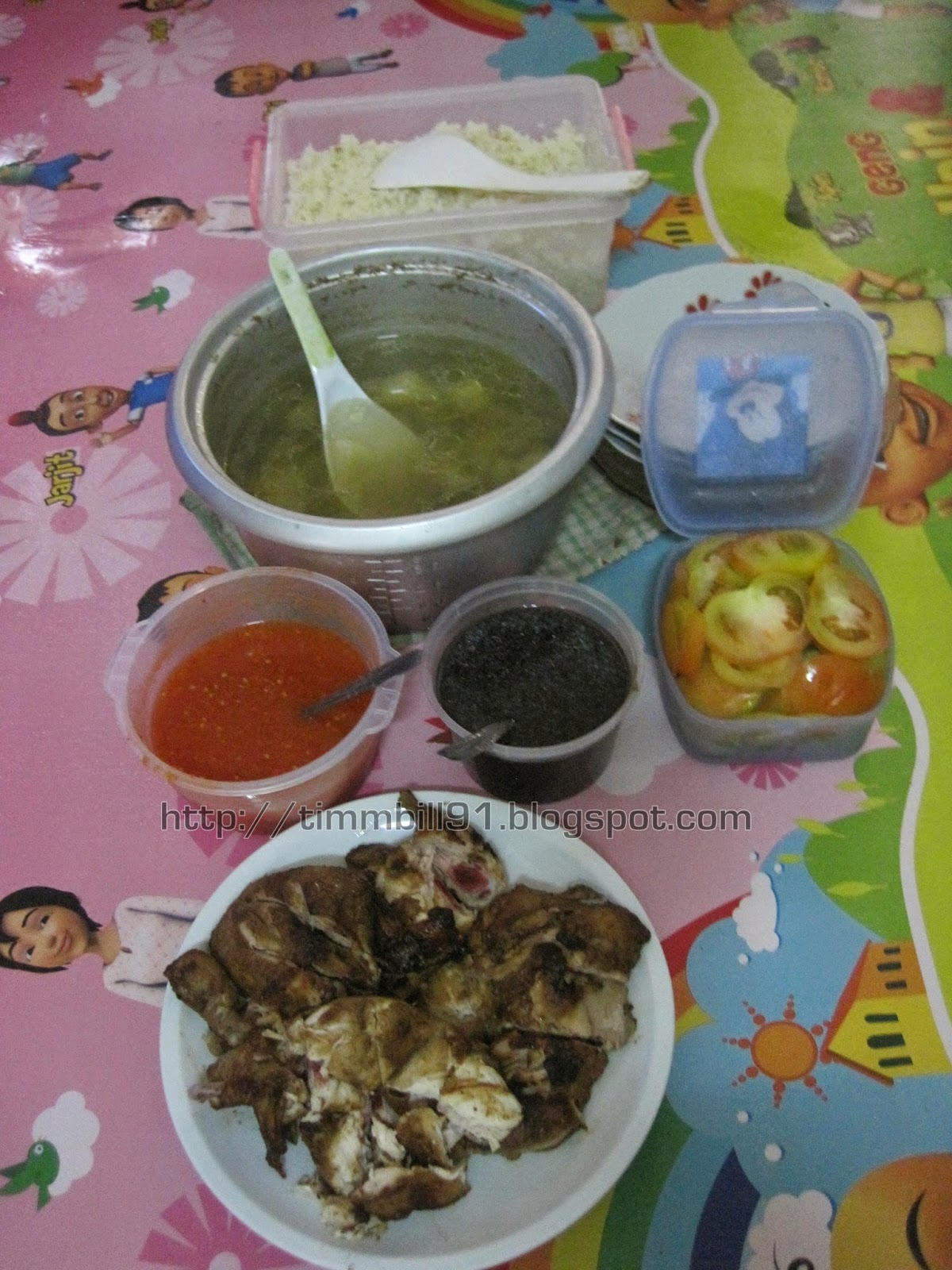 nasi ayam, lunch