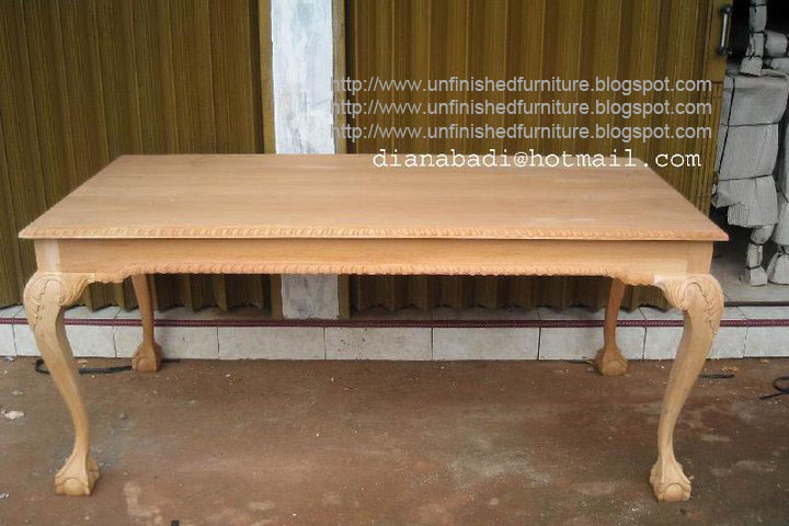 Unfinished Mahogany Furniture Unfinished Classic Furniture Chippendale Dining Table Indonesia