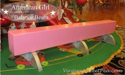 American Girl Inspired Balance Beam