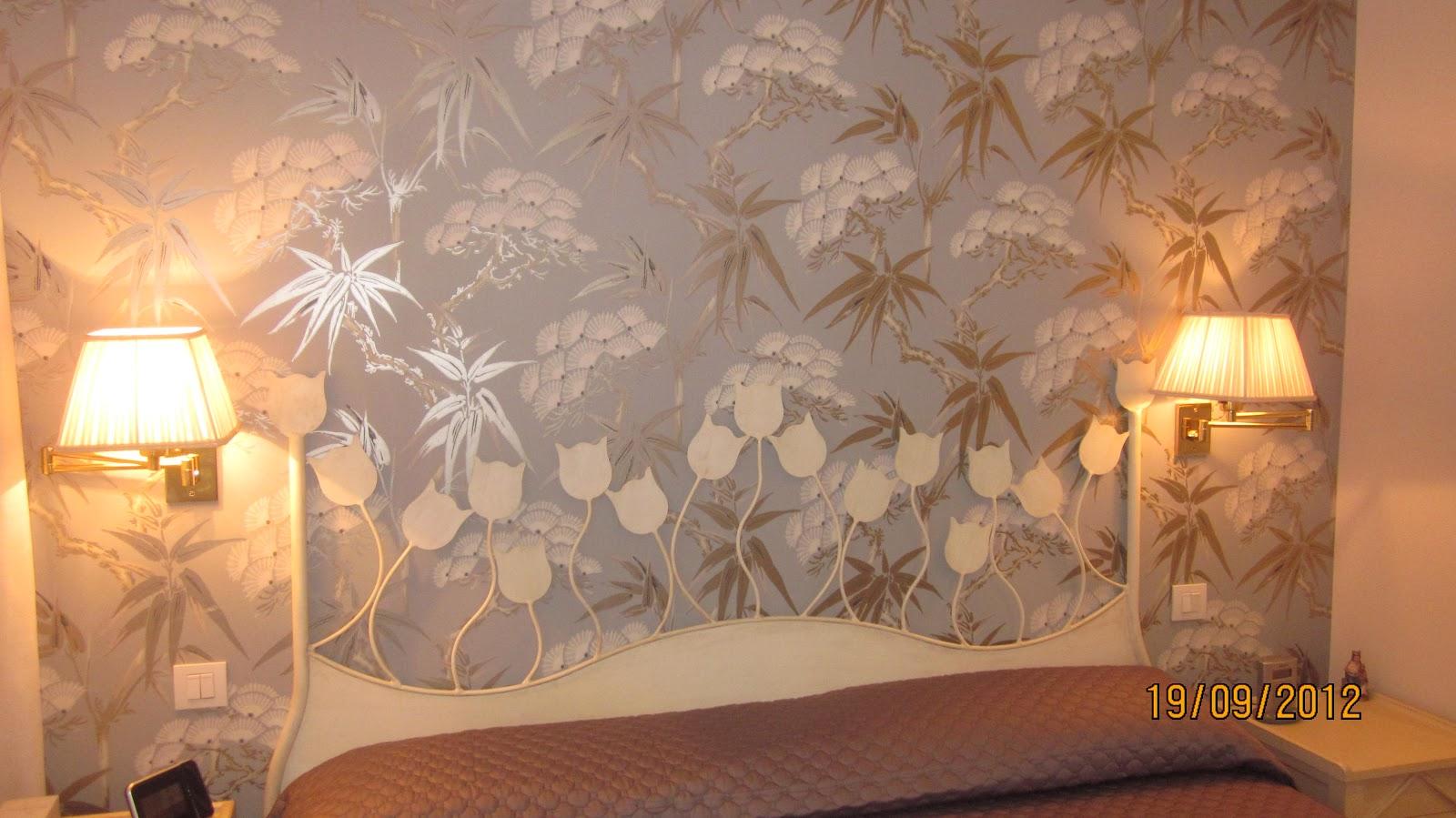 Decorar con cortinas y mucho m s octubre 2012 - Cabeceros con papel pintado ...