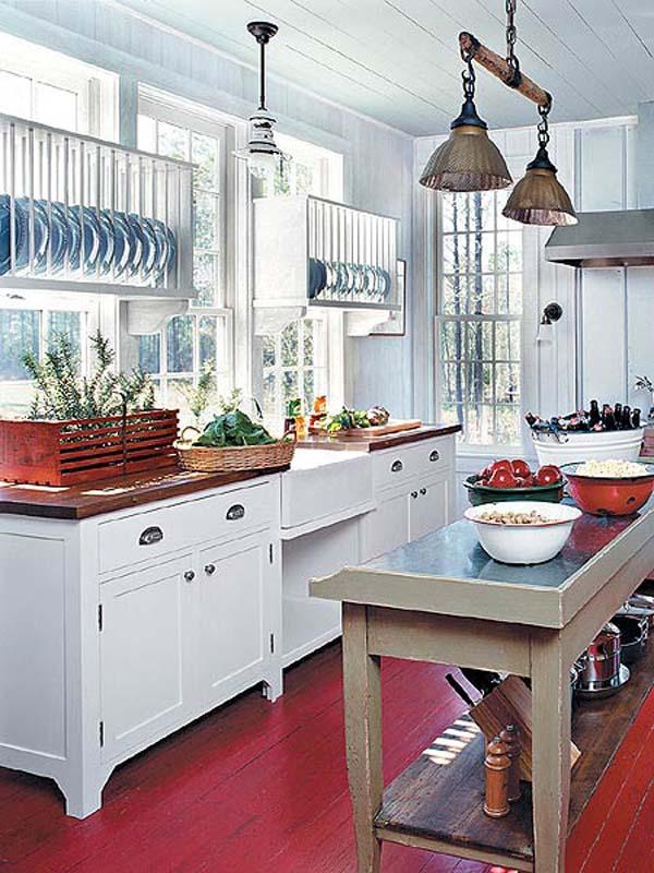 Red Kitchen Floor Ideas @ The Kitchen Design