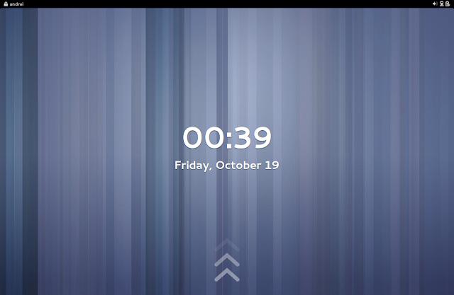 Ubuntu GNOME Remix 12.10 鎖定螢幕畫面