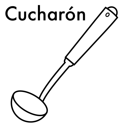 Dibujos para colorear utensilios de cocina - Utensilios de cocina para pintar ...