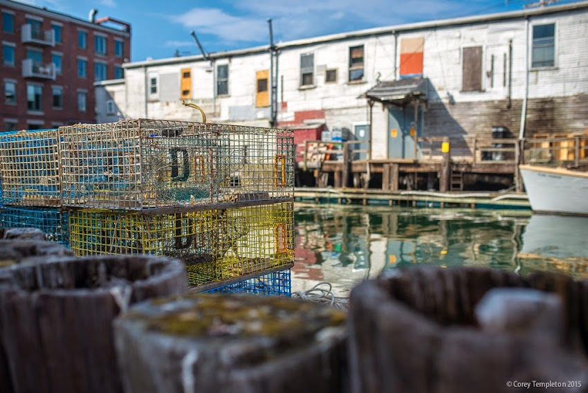 Portland, Maine May 2015 Casco Bay Waterfront towards Custom House Wharf photo by Corey Templeton.