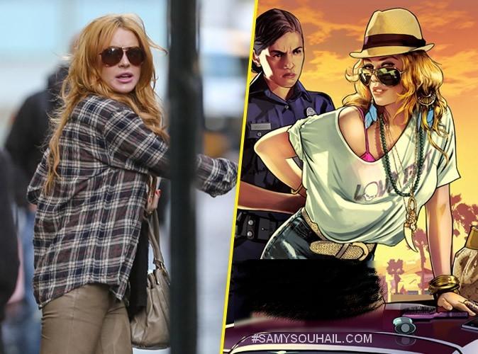 """الممثلة الأميركية """"ليندسي لوهان"""" ترفع دعوى قضائية ضد GTA 5"""