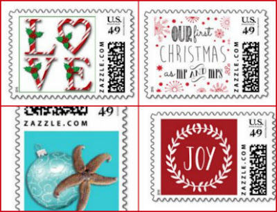 zazzle holiday postage  stamps