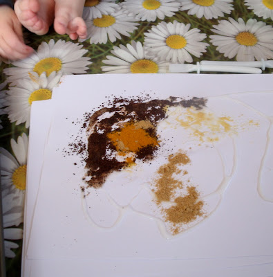 spice painting for preschoolers