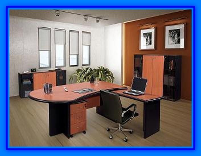 Muebles de oficina con tablero melamina web del for Disenos de escritorios para oficina