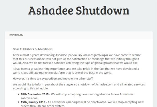 Ashadee.com Tutup
