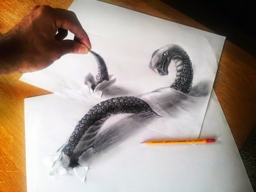 16-Snake-Optical-Illusionism-Ramon-Bruin-www-designstack-co