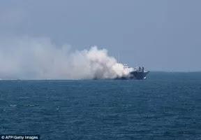 Estado Islâmico bombardeia navio na fronteira com Israel