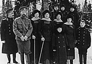 La familia del último zar ruso