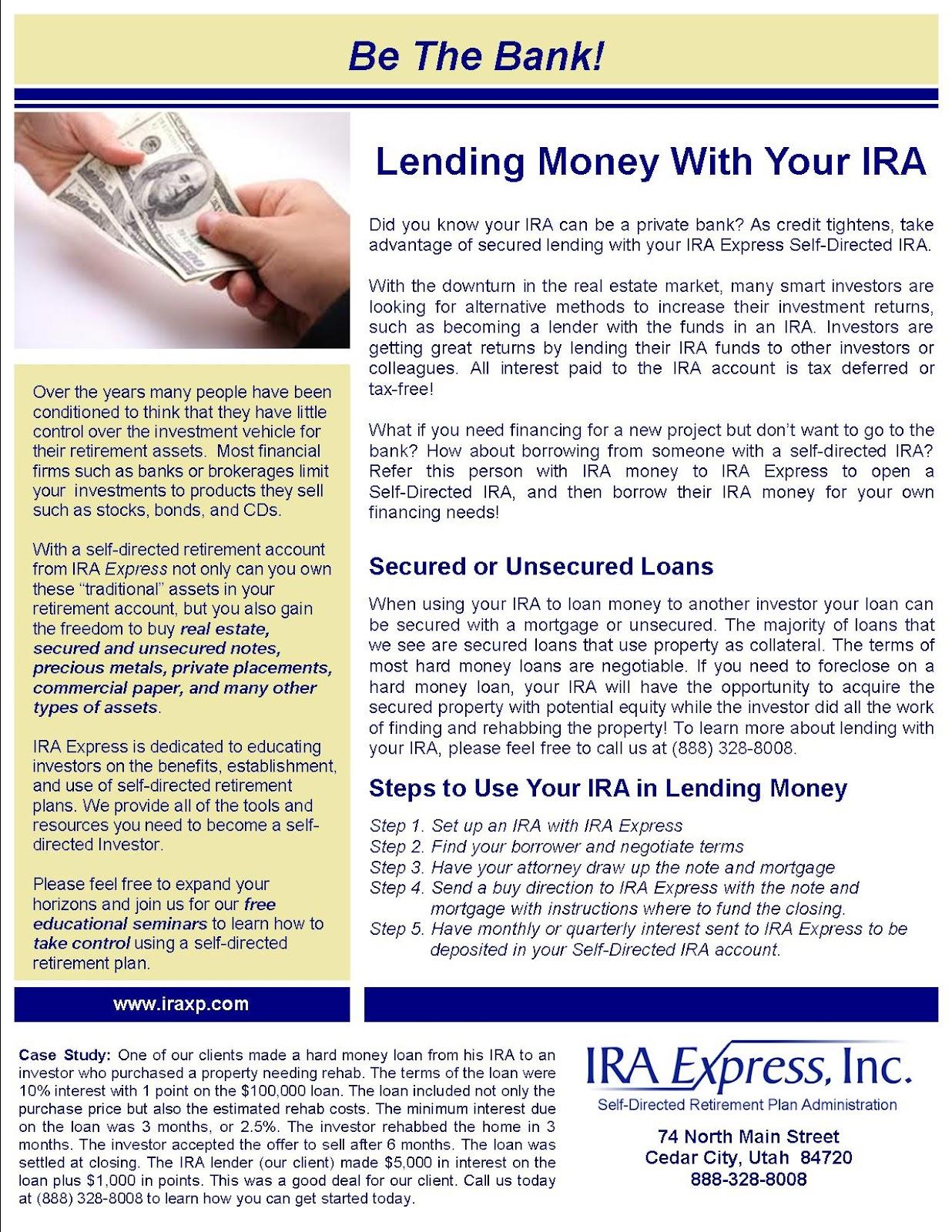 Ira hop scotch fund a private money loan using your ira falaconquin