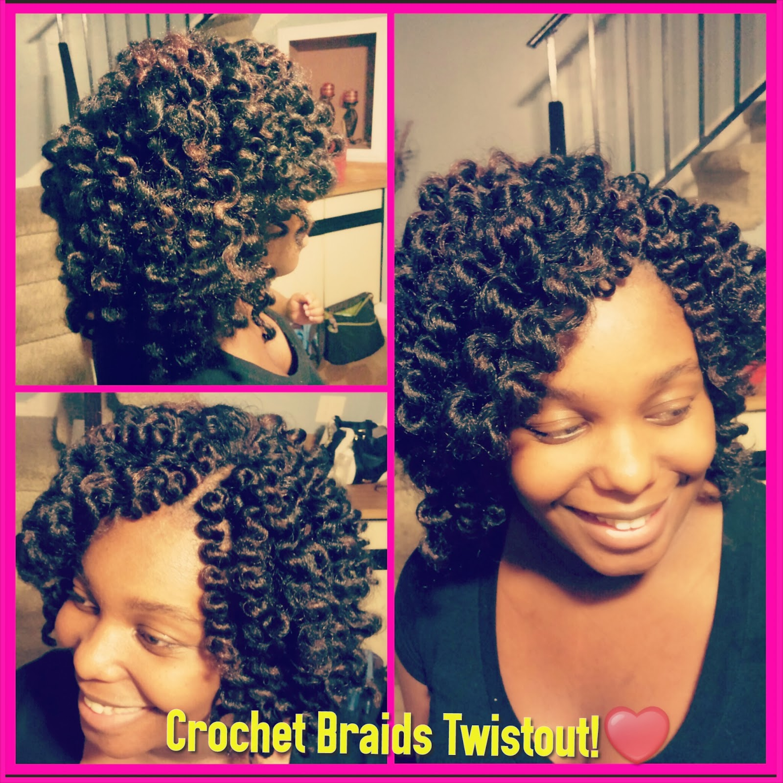 Crochet Braids Hair Growth : ... Hair Journey....Lets Grow!: First Attempt! Crochet Braids/Twistout