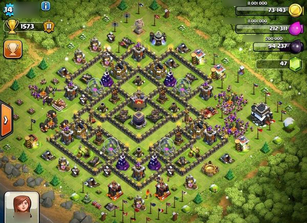 Clash of clans th9 base to protect dark elixir clash of clans all