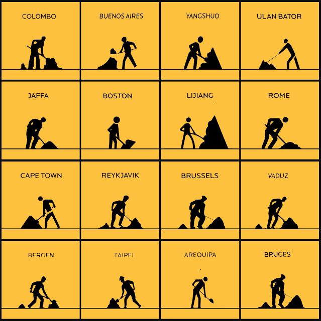 isotipos, pictogramas, trabajo, NY, Zona cero, Rome, Bruges, Taipei, Boston, Brussels, otros