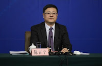Chinese environment minister Chen Jining attends a news conference at the annual session of the National People's Congress (NPC), the country's parliament, in Beijing, March 7, 2015. (Credit: Reuters/Stringer) Click to Enlarge.