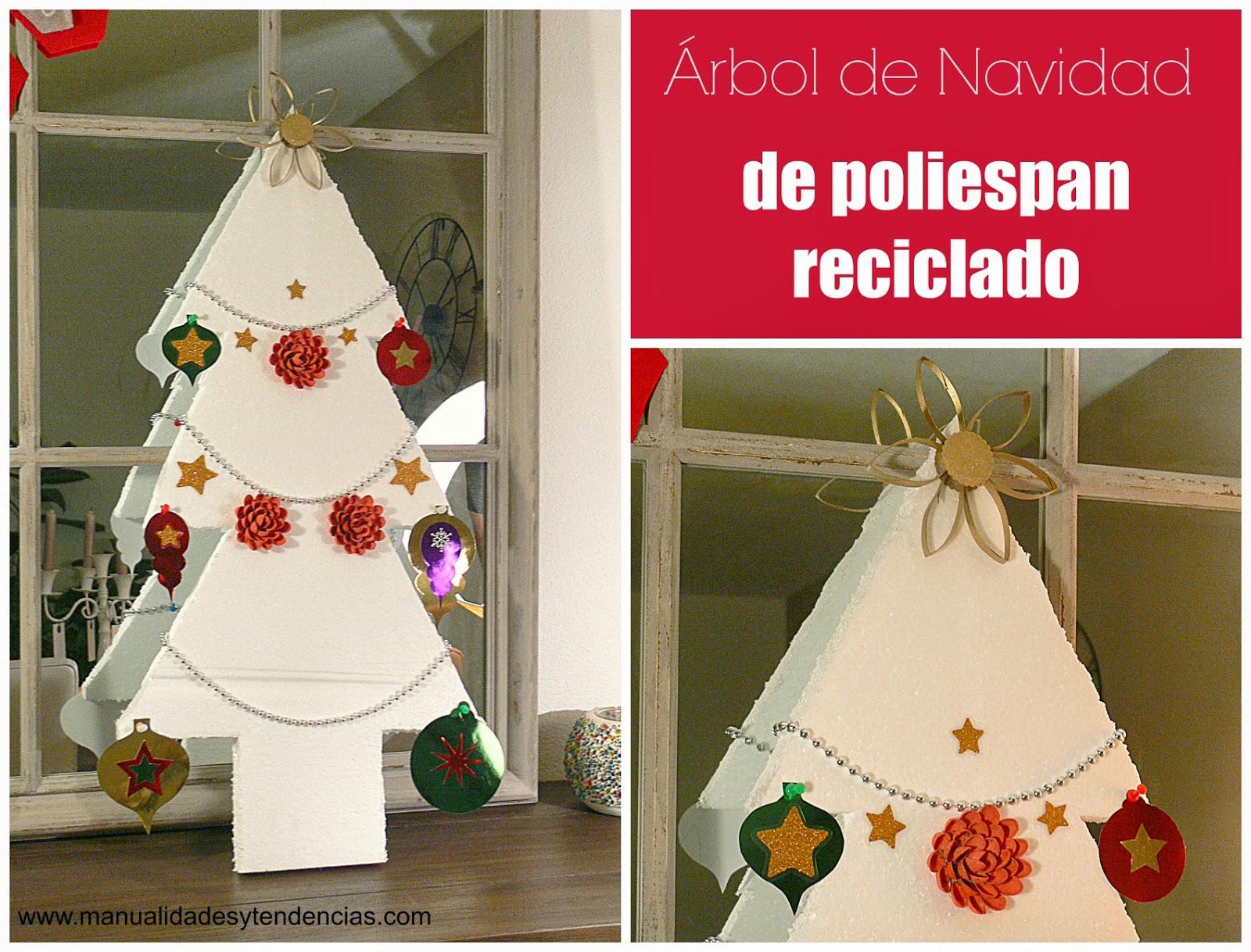 Manualidades y tendencias rbol de navidad reciclado - Arbol de navidad para ninos ...