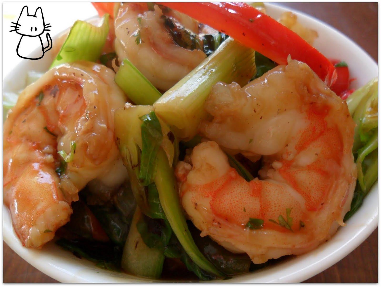 Saut de crevettes au bok choy blogs de cuisine - Cuisson pak choi ...