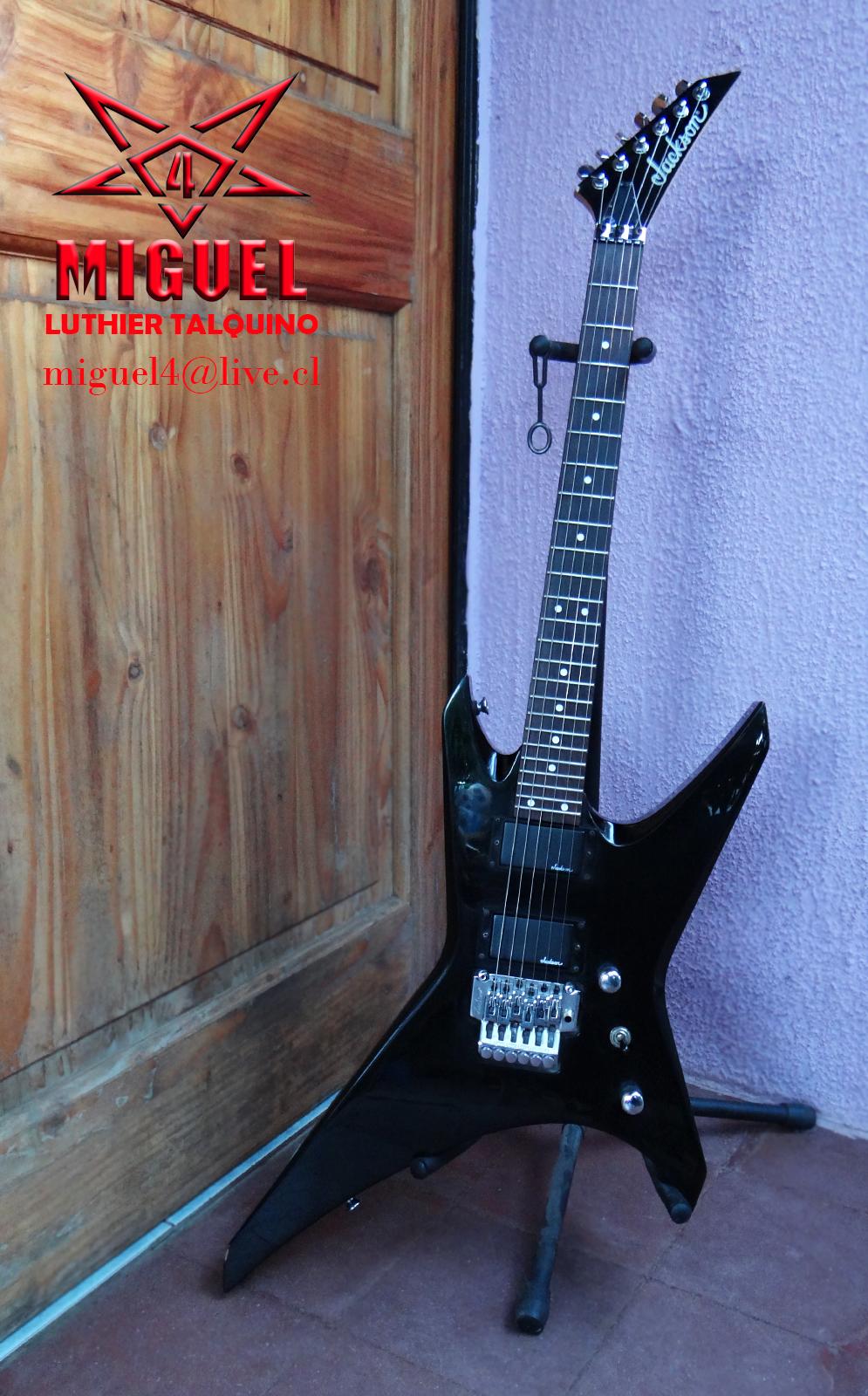 Luthier miguel4 talca guitarra electrica jackson modelo for Luthier guitarra electrica