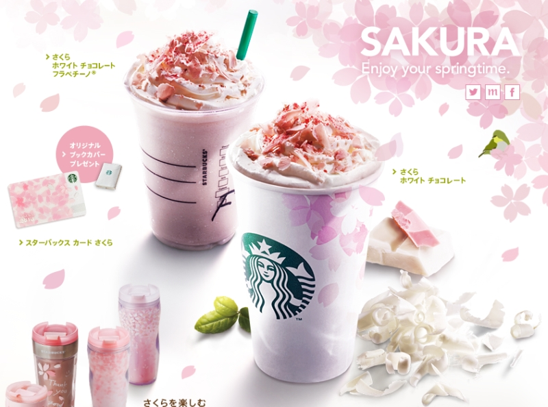 Around the World: Starbucks Japan - Sakura Season Menu | Brand Eating