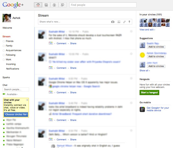 Google+ Features: Streams