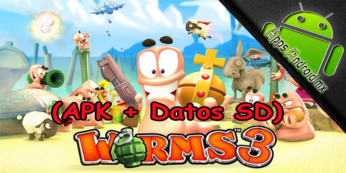 Worms 3 para Android (apk + Datos SD)