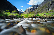 Arroyo del monoMonkey Creek (Paisajes de Nueva Zelanda)