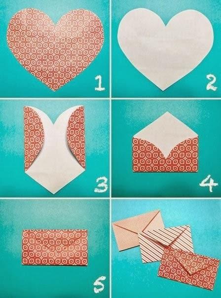 Sobre de corazón en Origami | Papiroflexía para Niños